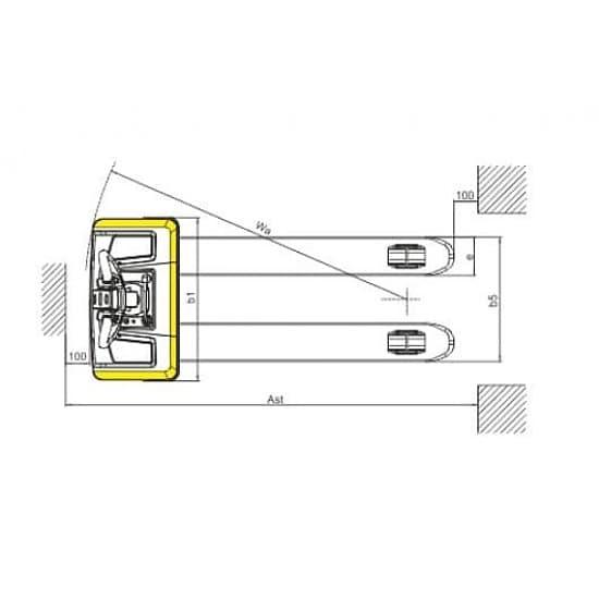 CBD15W г/п 1500 кг, вилы 550х1150 мм