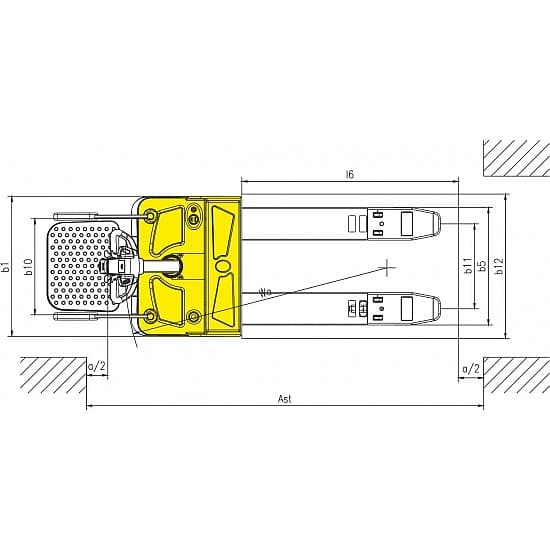 CBD25R-II г/п 2500 кг, вилы 550х1150 мм