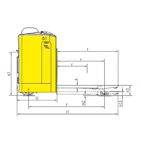 CBD25Z г/п 2500 кг, вилы 685х1100 мм