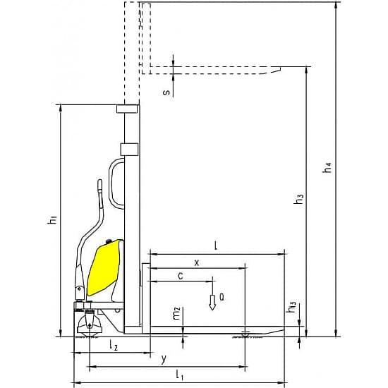 CDD15B-III с электроподъемом г/п 1500 кг