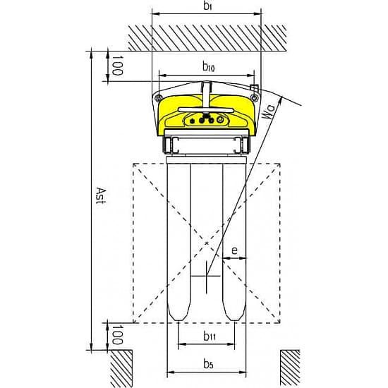 CDD10B-III с электроподъемом, г/п 1000 кг