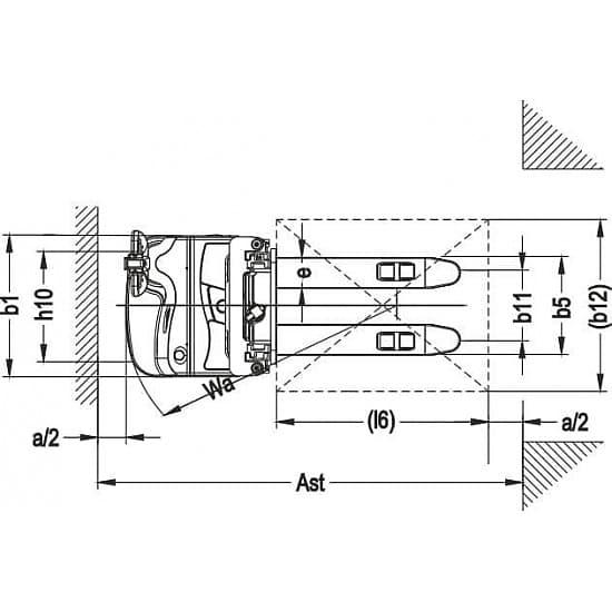 CDDR15Z-I самоходный электроштабелер г/п 1500 кг, высота подъема 4500 мм