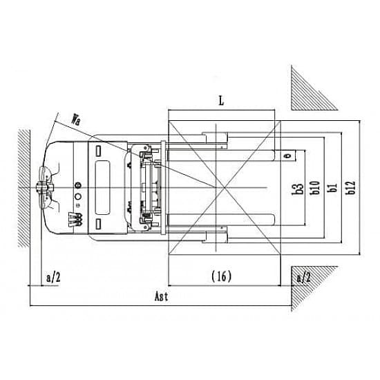 CQD15W  с противовесом, г/п 1500 кг, высота подъема 5600 мм