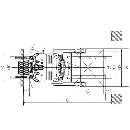 CQDH12A-I самоходный электроштабелер, г/п 1250 кг, в/п 5500 мм