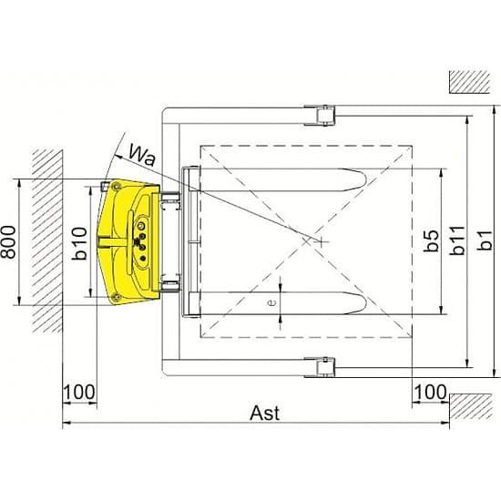 CTD10B-III с электроподъемом г/п 1000 кг