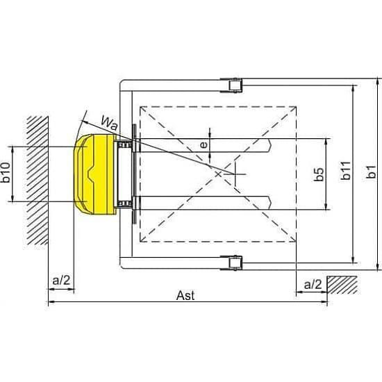CTD15B штабелер с электроподъемом (регулируемые опоры и вилы), г/п 1500 кг