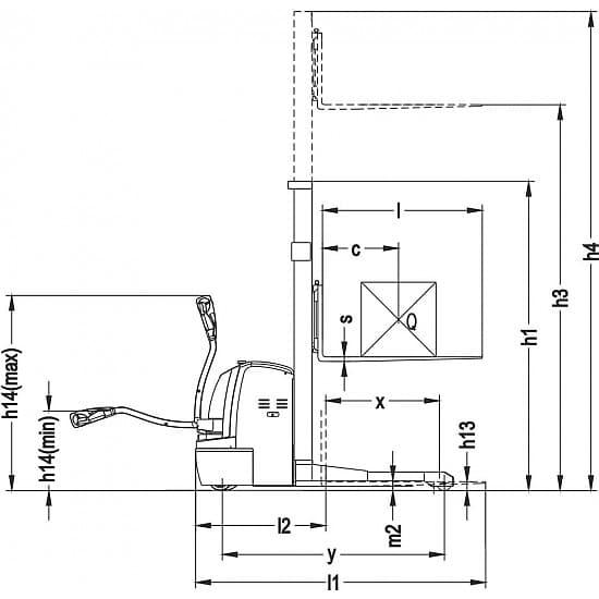Серия CTDR самоходные электроштабелеры