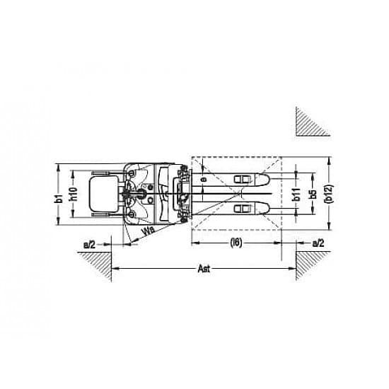 CDDK20 самоходный электроштабелер г/п 2000 кг, высота подъема до 6500 мм