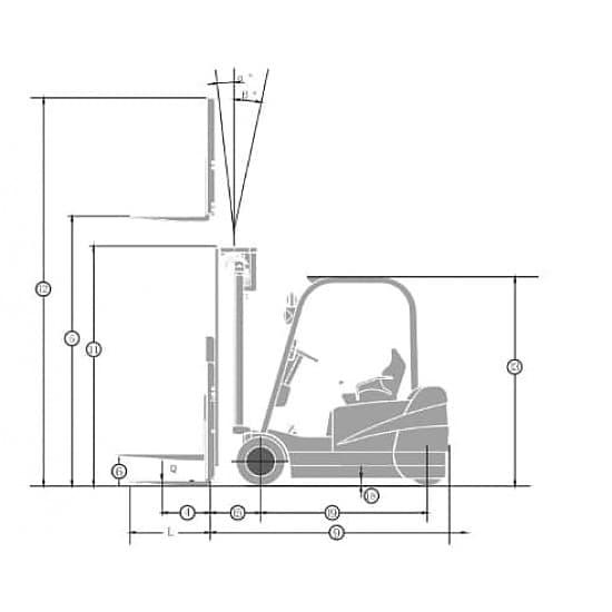 FB16S-MQJD2 электрический 3-х опорный погрузчик г/п 1600 кг, в/п 3000 мм