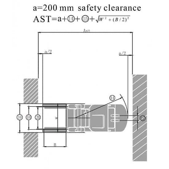 FB20S-MQJZ2 электрический 3-х опорный погрузчик г/п 2000 кг, в/п 3000 мм