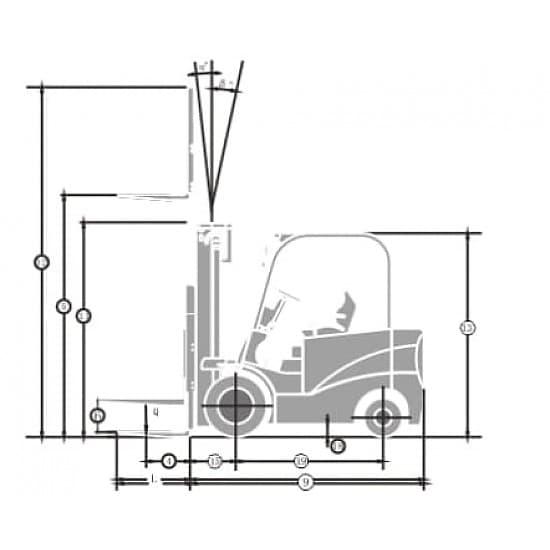 FB15-MQJZ2 электрический 4-х опорный погрузчик г/п 1500 кг, в/п 3000 мм