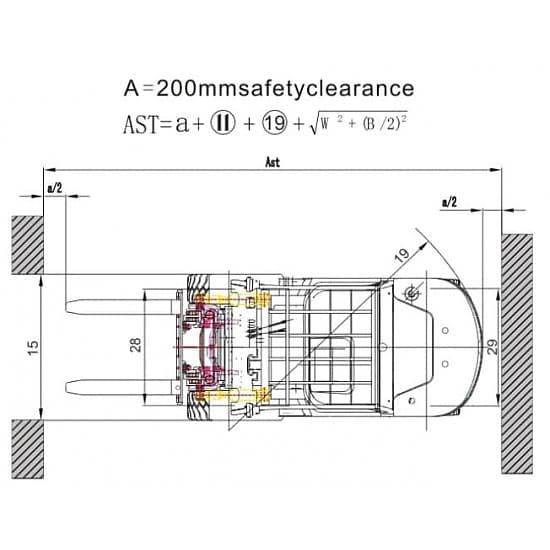 FD45T-M дизельный погрузчик г/п 4500 кг, в/п 3000 мм