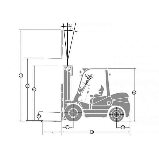 FGL35T-M газ-бензиновый погрузчик г/п 3500 кг, в/п 3000 мм