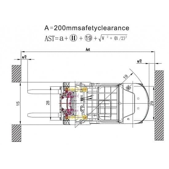 FL45T-M газовый погрузчик г/п 4500 кг, в/п 3000 мм