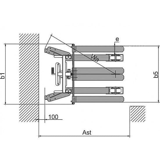 SDJA1000-KX г/п 1000 кг, высота подъема 2500 мм