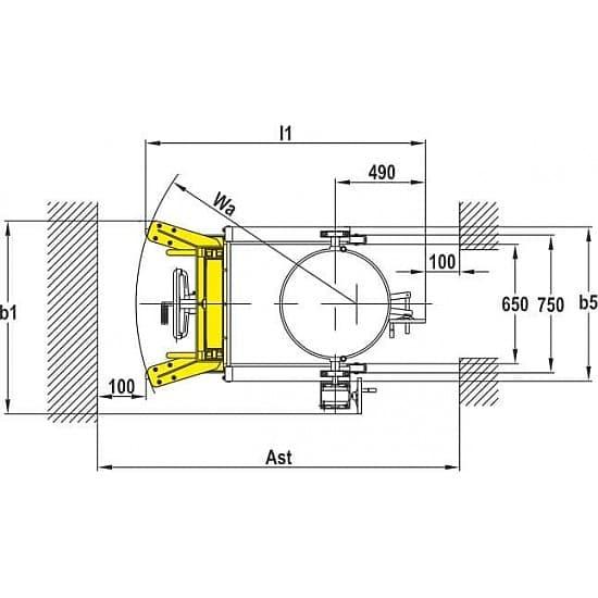 YTD-35 Бочкокантователь в/п 2385 мм
