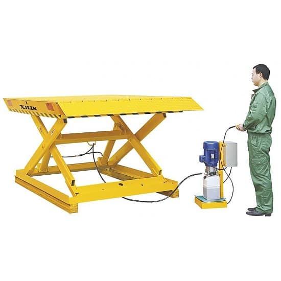 AL1 стационарный подъёмный стол с электроподъемом