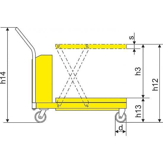 DP30 подъёмный стол с электроподъемом