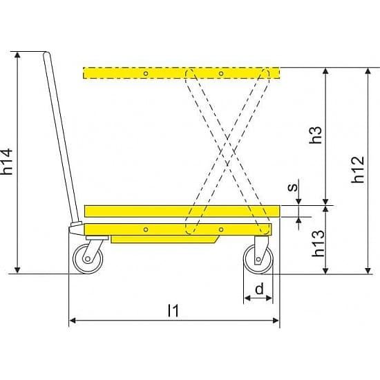 SP800 подъёмный стол