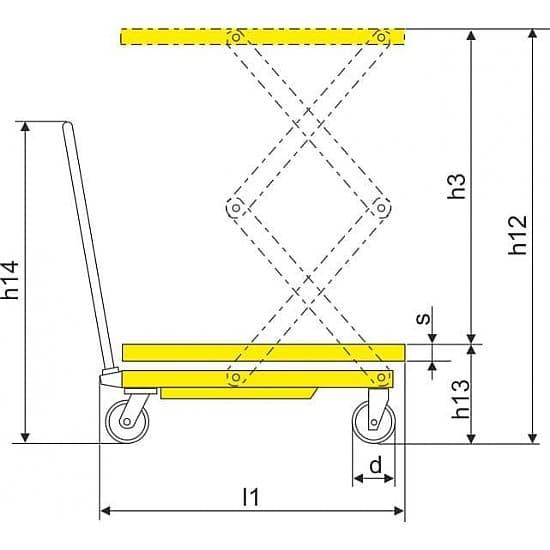 SPS150 подъёмный стол