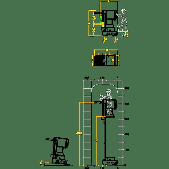 ELEVAH 5 MOVE PICKING, рабочая высота 5,15 метров