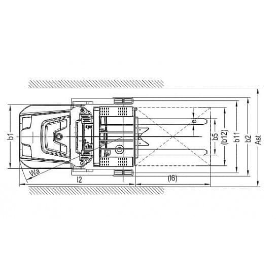 Штабелер-комплектовщик заказов OPS15 (в/п 9000 мм)