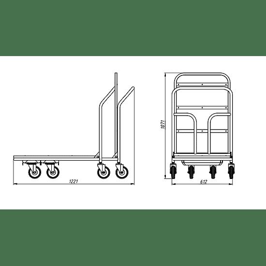 ТП ОП тележка платформенная с откидной платформой