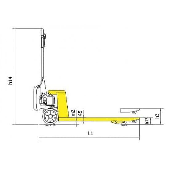 BFA 2500 г/п 2500 кг, вилы 550х1150 мм