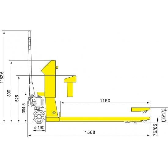 BFC6-7 г/п 2000 кг, вилы 570х1150 мм