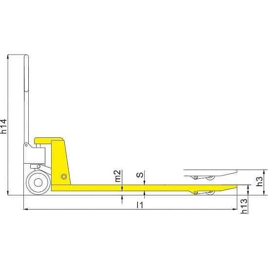 BFT 2500 г/п 2500 кг, вилы 550х1150 мм