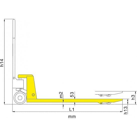 BF-III 2500 г/п 2500 кг, вилы 550х1220 мм