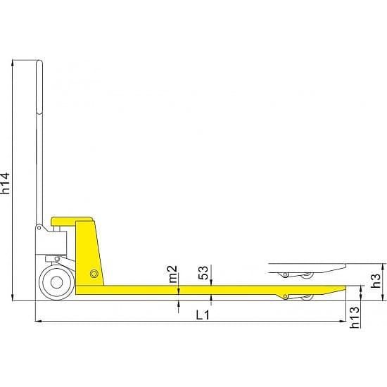 DB 2000 г/п 2000 кг, вилы 550х800 мм