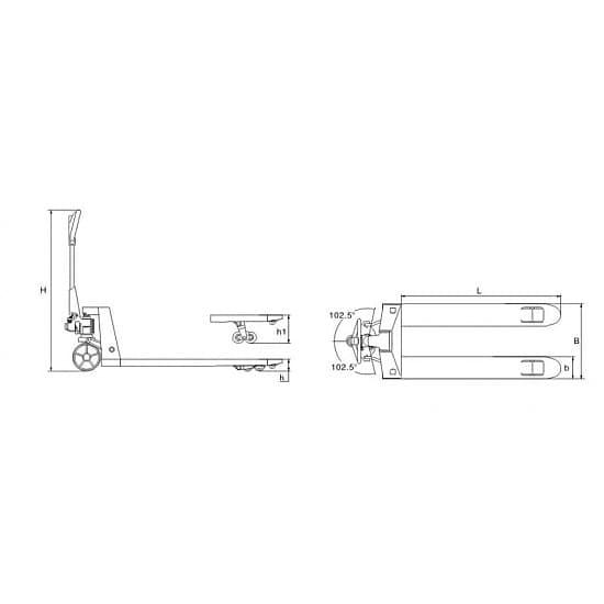 DB (KX) 2000 г/п 2000 кг, вилы 550х1150 мм