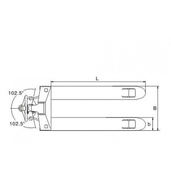 DF-III (KX) 3000 г/п 3000 кг, вилы 540х1150 мм