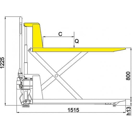 JF 1000 г/п 1000 кг, вилы 550х1150 мм