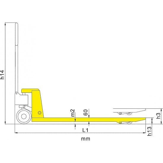 WB 5000 г/п 5000 кг, вилы 685х1220 мм