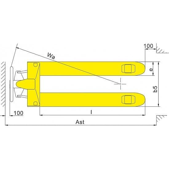 WF 500г/п 500 кг вилы 380х800 мм