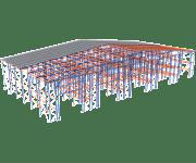 Самонесущий склад (стеллажи)